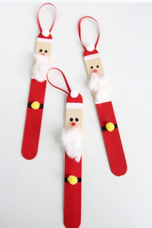 DIY Popsicle Stick Santa