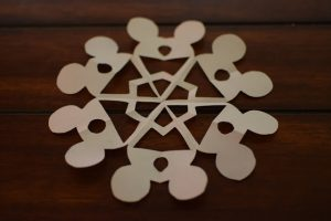 Disney Paper Snowflake Cut Out