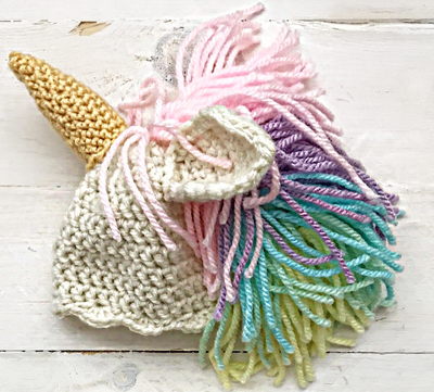 Easy Crochet Unicorn Hat Instructions