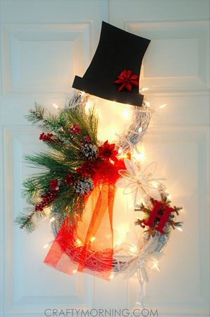 Lighted Snowman Wreath Directions