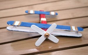 Popsicle Stick Airplane Ornament