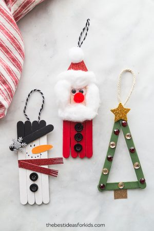 Popsicle Stick Ornaments Christmas