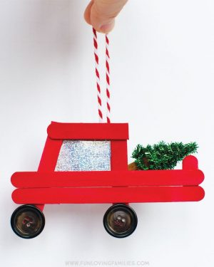 Popsicle Stick Truck Ornament