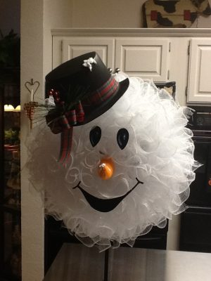 Snowman Mesh Wreath Tutorial