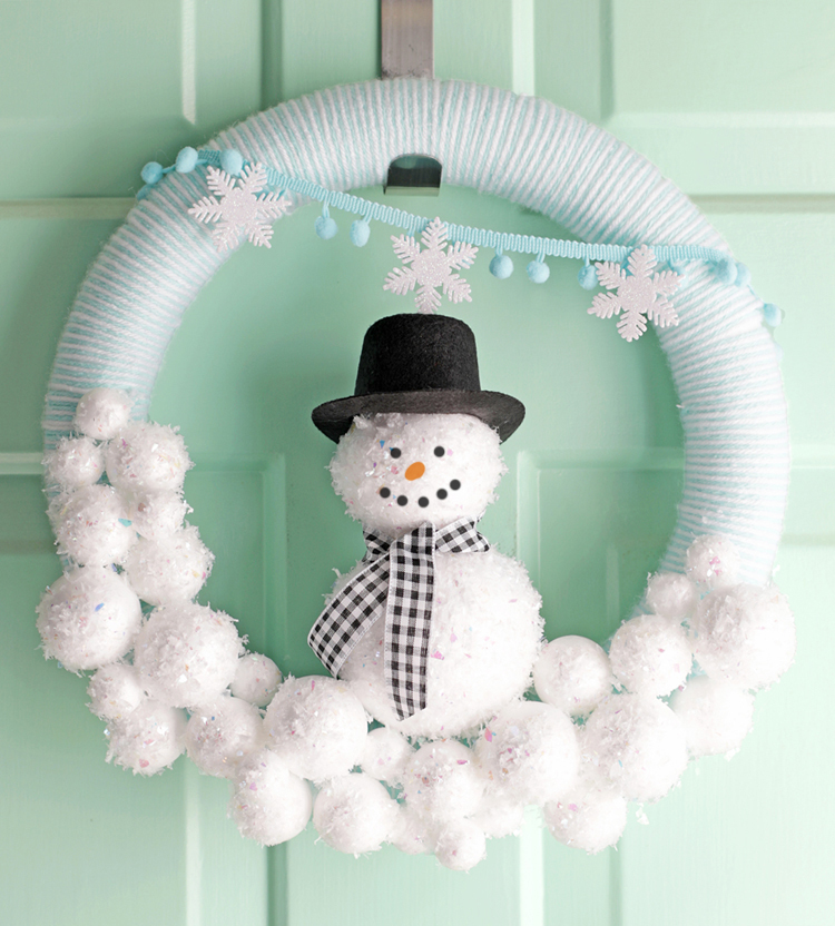 Snowman Wreath DIY