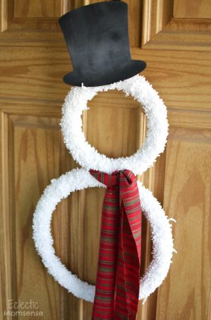 Snowman Wreath Pattern