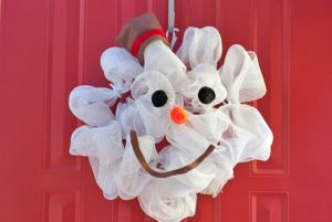 Snowman Wreath from Mesh