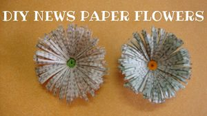 DIY Newspaper Flowers