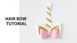 How to make Unicorn Hair Bow DIY