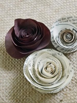 Making Newspaper Flowers