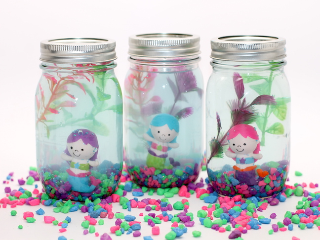 Mason Jar Aquarium DIY