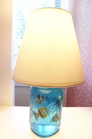 Mason Jar Aquarium Lampshade