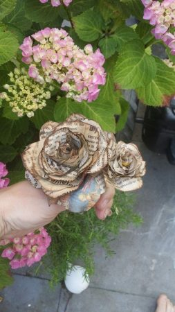 Newspaper Rose Flowers