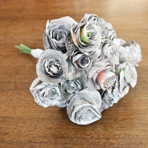 Newspaper Wedding Bouquet