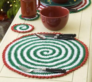 Crochet Christmas Placemat