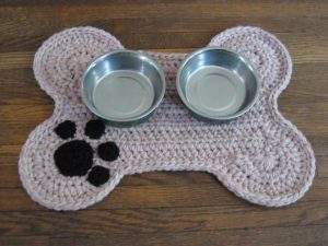 Crochet Dog Bone Placemat
