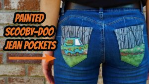 Cute Jean Pocket Painting