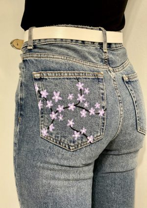 Cute Painted Jean Pocket