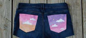 DIY Painted Jean Pockets