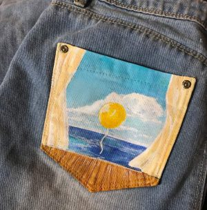 How to Paint Jean Pockets