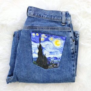 Jeans with Painted Pockets