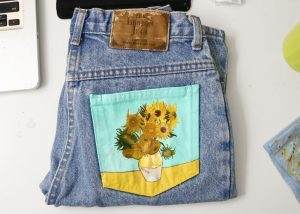 Painting on Jeans Pocket
