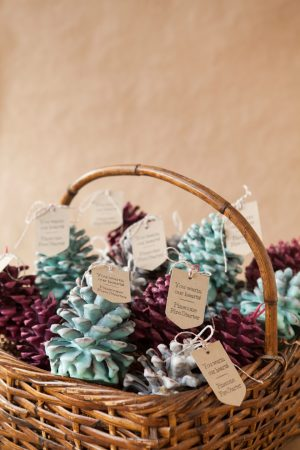 Scented pine cone firelighters