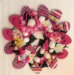 DIY Beach FLip Flop Wreath