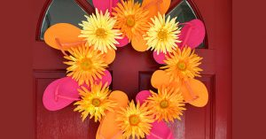 Flip Flop Flower Wreath