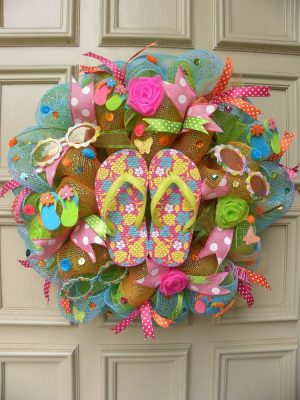 Flip Flop Wreath Deco Mesh