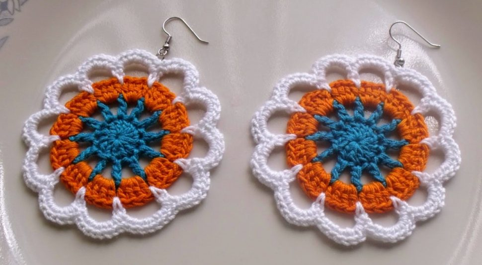 Crochet Flower Earrings Patterns