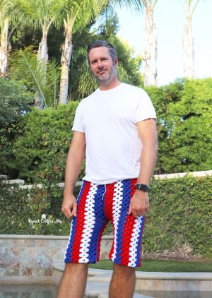 Crochet Mens Shorts Pattern