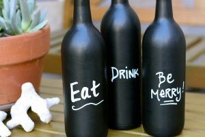 DIY Wine Bottle Painting