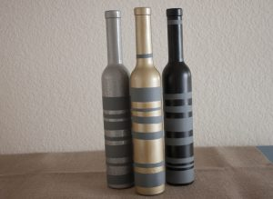 Gold Painted Wine Bottles
