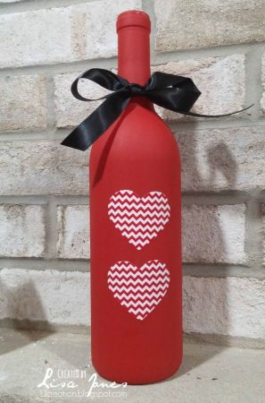 Painted Wine Bottle Decoration