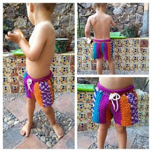 Toddlers Crochet Shorts